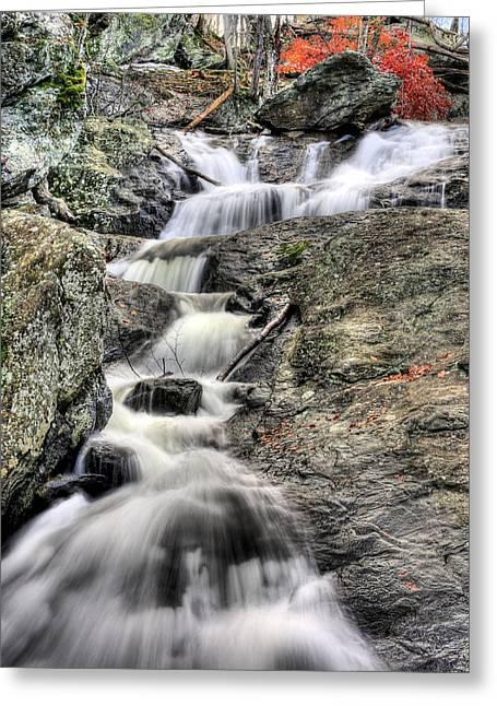 Babbling Greeting Cards - The Falls Greeting Card by JC Findley