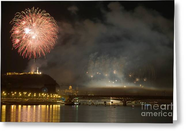 Independance Day Greeting Cards - The firework Greeting Card by Odon Czintos