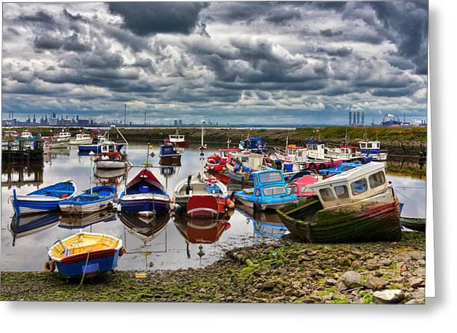 The Fishing Fleet Greeting Card by Trevor Kersley