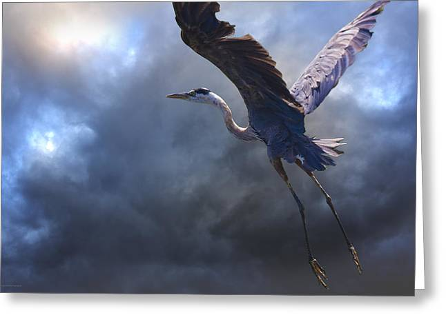 The Flight Of Titans Greeting Card by Ron Jones