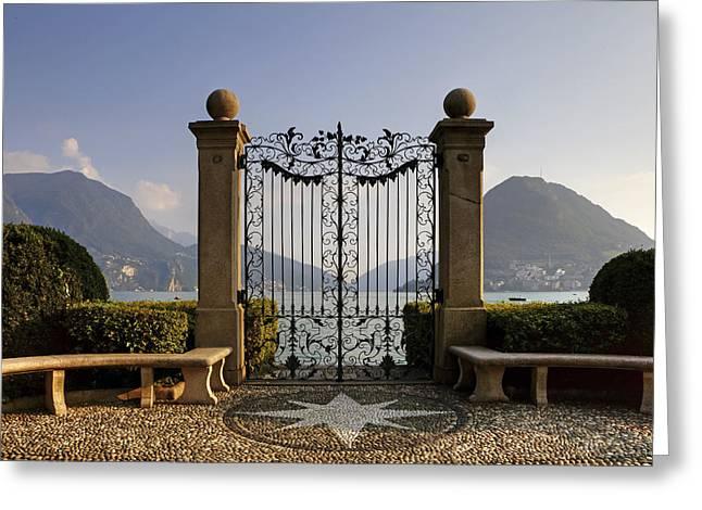 The gateway to Lago di Lugano Greeting Card by Joana Kruse
