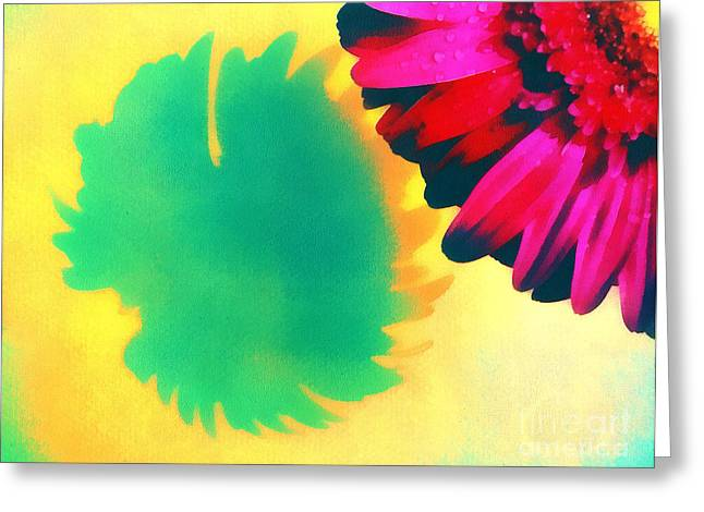 Gold Lame Greeting Cards - The gerbera Greeting Card by Odon Czintos
