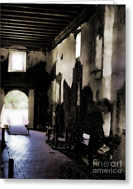 The Ghostly Nave Greeting Card by Donna Greene