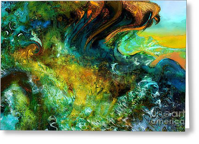North Sea Greeting Cards - The golden wave  Greeting Card by Anne Weirich