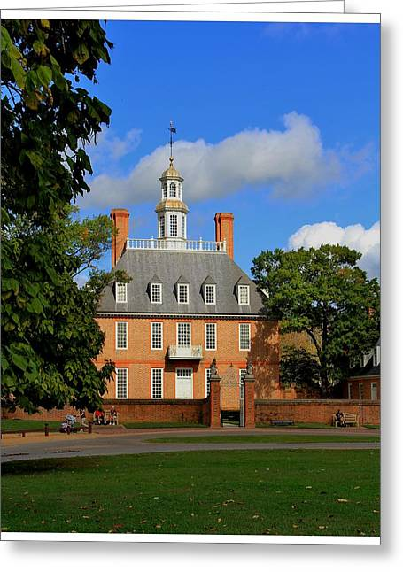 Cupula Greeting Cards - The Governors Palace Greeting Card by Frank Wickham