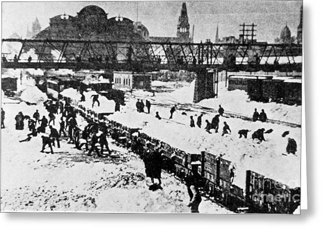 Paralyzed Greeting Cards - The Great Blizzard, Nyc, 1888 Greeting Card by Science Source