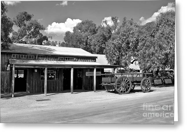 Tin Roof Greeting Cards - The Heritage town of Echuca Victoria Australia Greeting Card by Kaye Menner