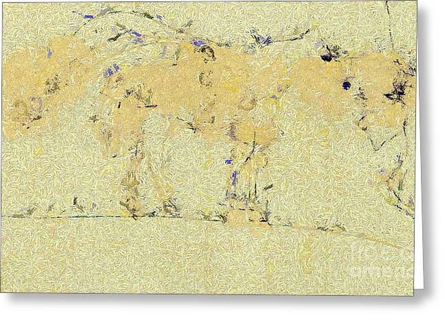 Wildlife Celebration Paintings Greeting Cards - The horse Greeting Card by Odon Czintos