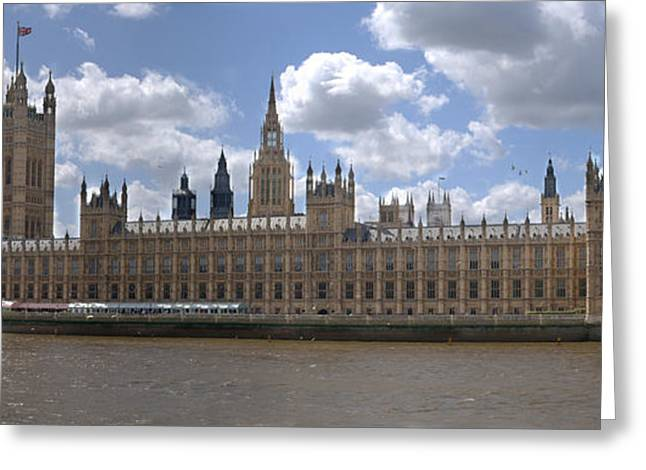 Christmas Greeting Greeting Cards - The Houses of Parliament Greeting Card by Chris Day