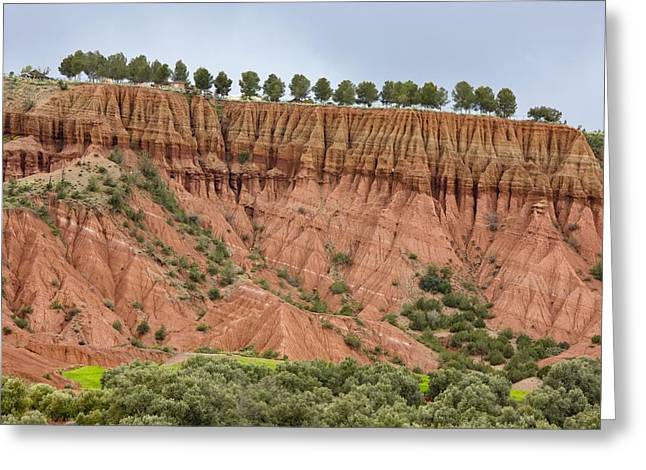 Blue Mudstone Greeting Cards - The Imlil Valley, Morocco Greeting Card by Bob Gibbons