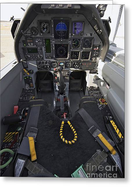Cob Speicher Greeting Cards - The Interior Cockpit Of An Iraqi Air Greeting Card by Terry Moore