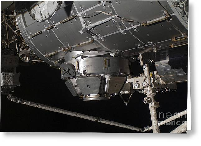 Mechanism Photographs Greeting Cards - The International Space Stations Greeting Card by Stocktrek Images