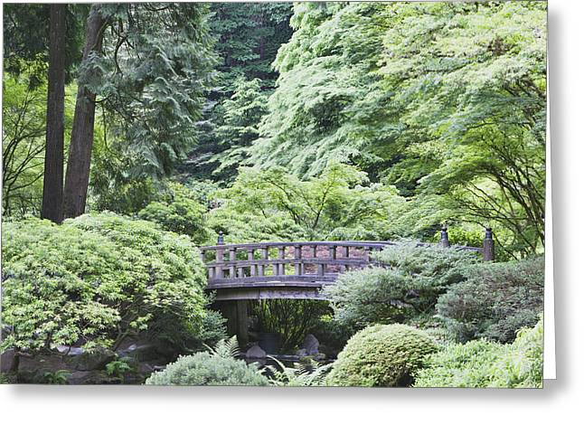 State Parks In Oregon Greeting Cards - The Japanese Garden Is A 5.5 Acre Site Greeting Card by Douglas Orton