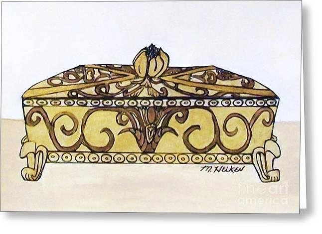 The Jewelry Box Greeting Card by Marsha Heiken