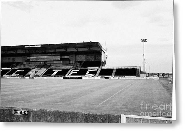 Jocks Greeting Cards - the jock macdonald stand at Inverness caledonian thistle football stadium scotland uk Greeting Card by Joe Fox