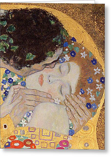 Details Greeting Cards - The Kiss Greeting Card by Gustav Klimt