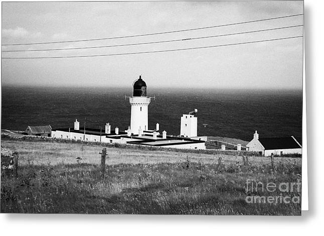 the lighthouse at dunnet head most northerly point of mainland britain scotland  Greeting Card by Joe Fox