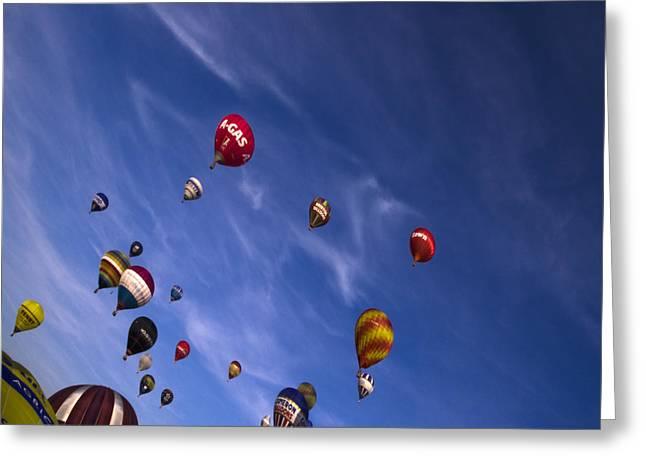 Balloon Fiesta Greeting Cards - The Lounge Greeting Card by Angel  Tarantella