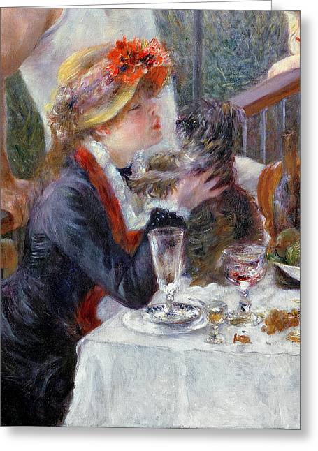Celebration Paintings Greeting Cards - The Luncheon of the Boating Party Greeting Card by Pierre Auguste Renoir