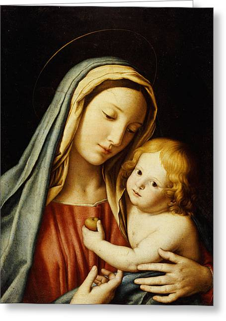 Devotional Greeting Cards - The Madonna and Child Greeting Card by Il Sassoferrato