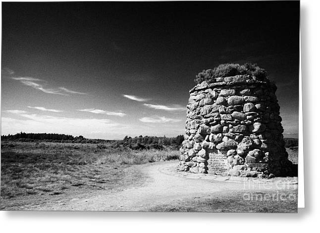 the memorial cairn on Culloden moor battlefield site highlands scotland Greeting Card by Joe Fox