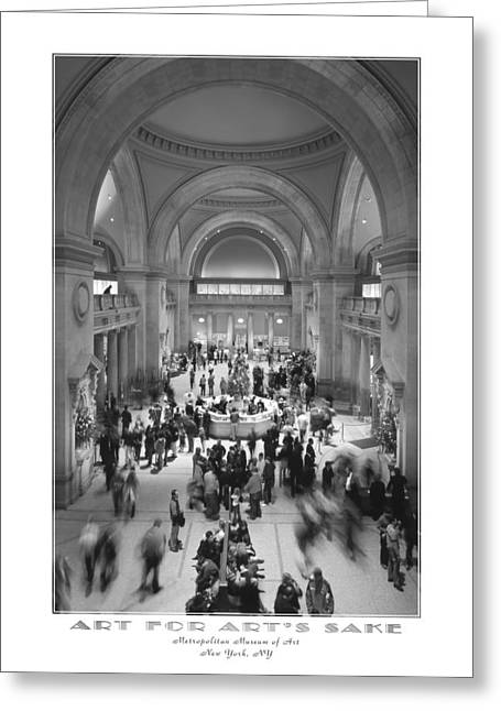 Museums Art Greeting Cards - The Metropolitan Museum of Art Greeting Card by Mike McGlothlen