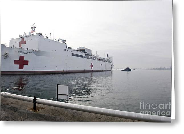 Humanitarian Greeting Cards - The Military Sealift Command Hospital Greeting Card by Stocktrek Images