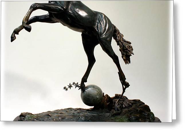 The Moonhorse Bronze  Greeting Card by Dawn Senior-Trask