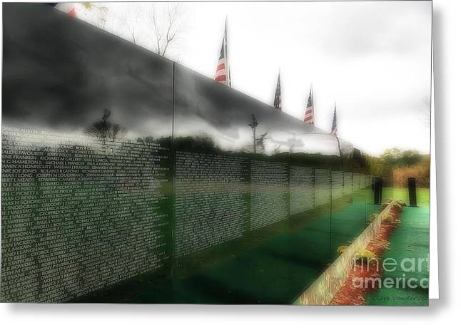 Servicewoman Greeting Cards - The Moving Wall Greeting Card by Clare VanderVeen