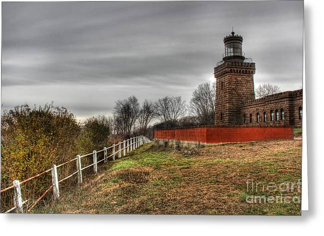 Atlantic Beaches Greeting Cards - The Navesink Twin Lights  Greeting Card by Lee Dos Santos