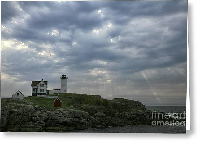 Cape Neddick Lighthouse Greeting Cards - The Nubble Greeting Card by Timothy Johnson