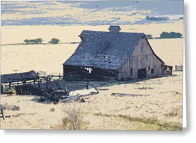 Barn Pen And Ink Greeting Cards - The Old Barn Greeting Card by Steve McKinzie