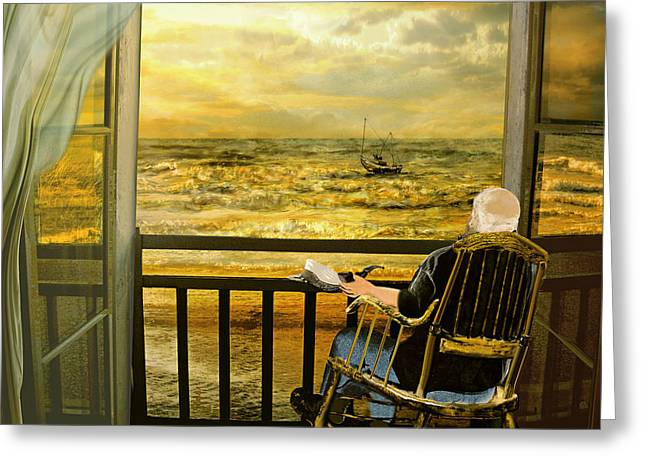 The Old Man And The Sea Greeting Card by Anne Weirich