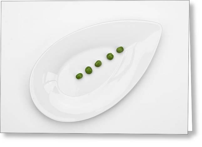 Fresh Green Greeting Cards - The Pea Greeting Card by Joana Kruse