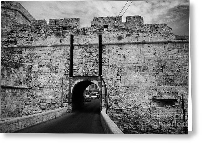Old Roadway Greeting Cards - The Porta Di Limisso The Old Land Gate In The Old City Walls Famagusta Turkish Republic Cyprus Greeting Card by Joe Fox