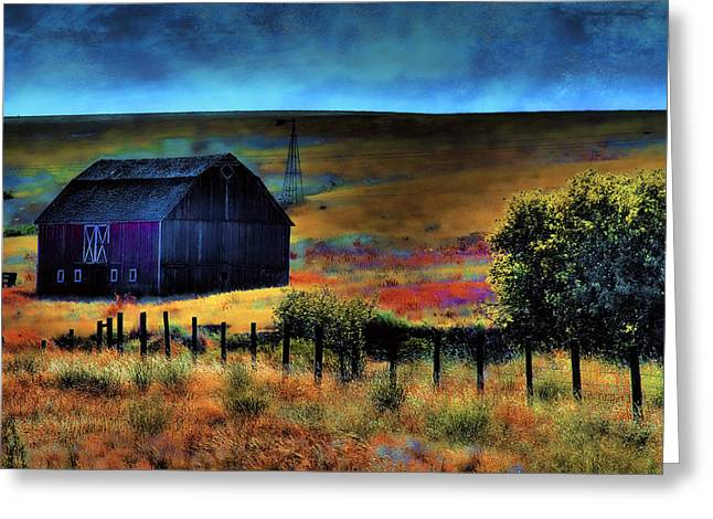 Barn Digital Art Greeting Cards - The Red Barn Greeting Card by David Patterson