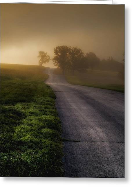 Ron Mcginnis Greeting Cards - The Road Home Greeting Card by Ron  McGinnis