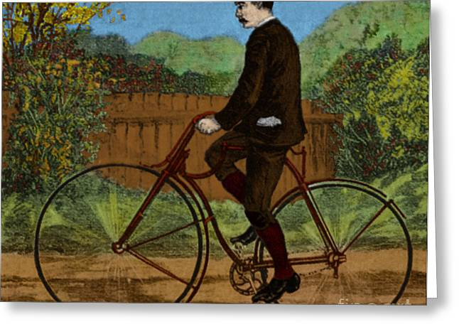 Rover Greeting Cards - The Rover Bicycle Greeting Card by Science Source