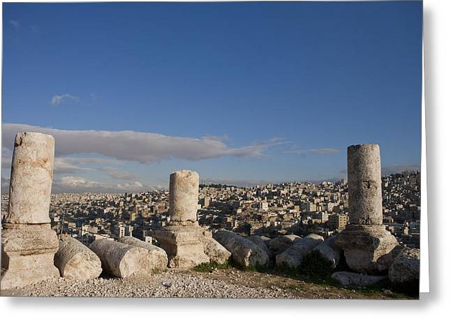 The Ruins Of The Ancient Citadel, Or Greeting Card by Taylor S. Kennedy