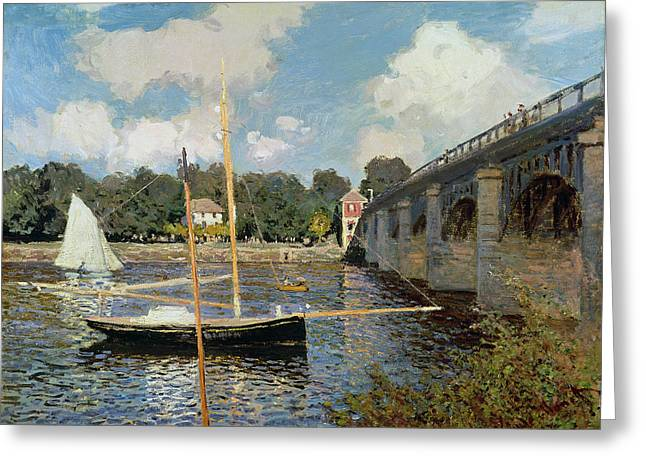The Seine at Argenteuil Greeting Card by Claude Monet
