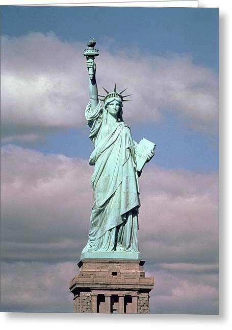 Bartholdi Greeting Cards - The Statue of Liberty Greeting Card by American School
