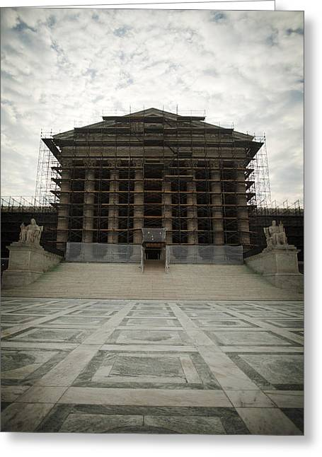 Centre Court Greeting Cards - The Supreme Court Building Greeting Card by Charles Knox