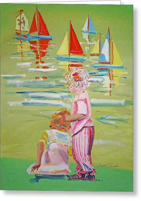 Toy Boat Greeting Cards - The Toy Regatta Greeting Card by Charles Stuart