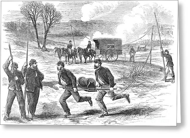 Post-civil War Greeting Cards - The Union Telegraph, 1863 Greeting Card by Granger