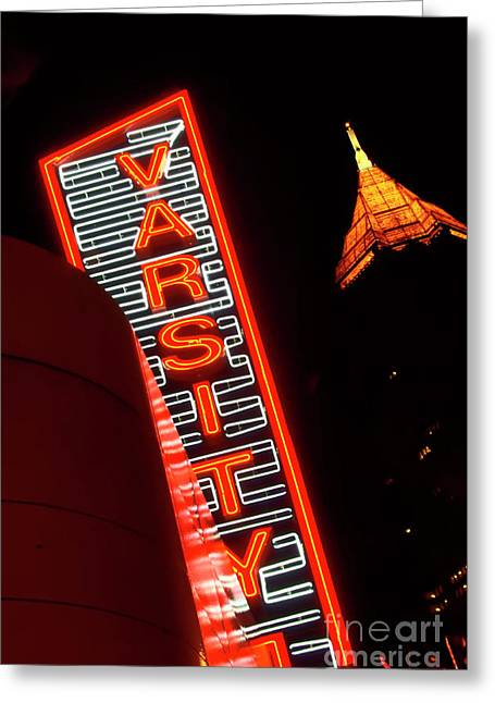 Photographers Conyers Greeting Cards - The Varsity Atlanta Greeting Card by Corky Willis Atlanta Photography