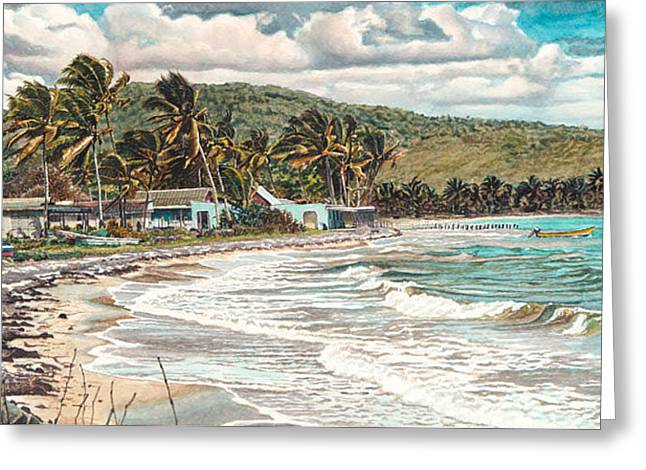 Etc. Paintings Greeting Cards - The Water Front   Greeting Card by Gregory Jules