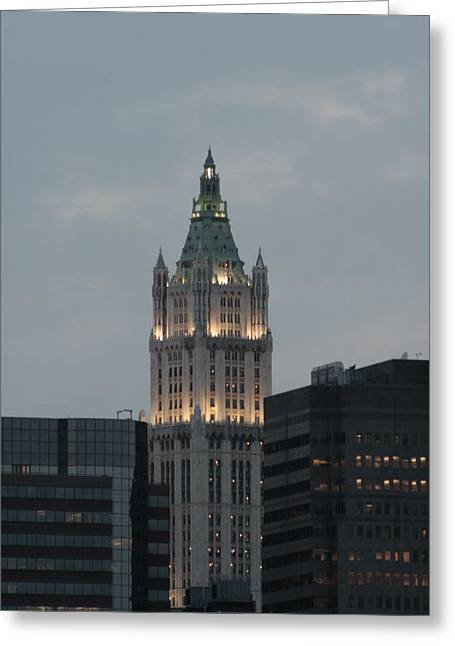 Woolworth Greeting Cards - The Woolworth Building Greeting Card by Christopher Kirby