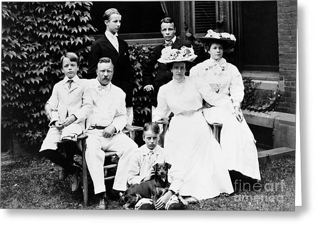 The First Family Greeting Cards - Theodore Roosevelt Family Greeting Card by Granger