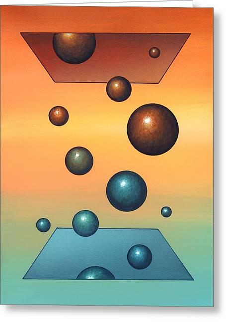 Statistical Greeting Cards - Thermodynamics, Conceptual Artwork Greeting Card by Richard Bizley