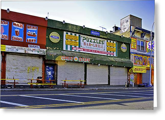 Seedy Greeting Cards - Thirsty In Coney Island Greeting Card by Madeline Ellis